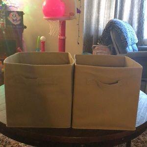 Fabric storage bins